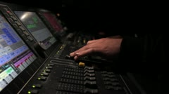 Light desk operator 5 Stock Footage