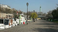 Quey at Canal San Martin Stock Footage