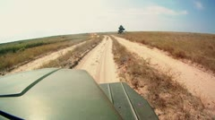 Driving at hard truck at country road, POV 3 Stock Footage