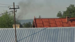 House brick chimney Stock Footage