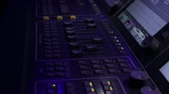 Light desk operator 8 Stock Footage