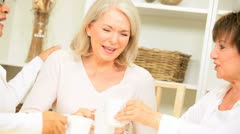 Mature Ladies Coffee Morning - stock footage