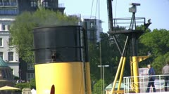 Steam tug Stock Footage