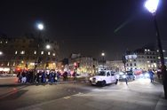 Night traffic and Crowds in London Stock Footage