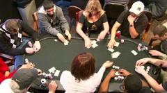 Poker Tournament Stock Footage