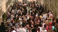 Stock Video Footage of Crowded People in an Outlet