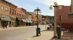 City of Deadwood main street looking south Stock Footage