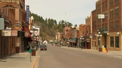 Town of Deadwood looking north Stock Footage