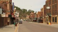 Stock Video Footage of Town of Deadwood looking north