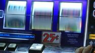 Slot machine spins winner Stock Footage