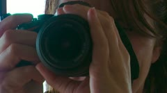Taking a picture - stock footage