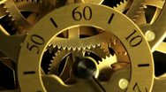 Complex movement of a modern wind-up watch, timelapse Stock Footage