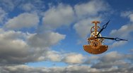 Clock With Clouds, timelapse Stock Footage