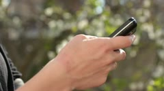 Stock Video Footage of Hands holding smart phone