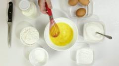 Cooking Pancake Batter Stock Footage