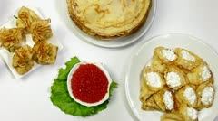 DOLLY: Pancakes on Shrove Tuesday Stock Footage