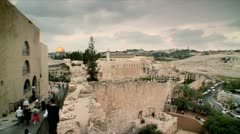 East Jerusalem View form the Old City Stock Footage