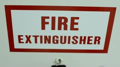 Fire extinguisher Stock Footage