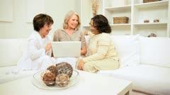 Seniors Planning via Laptop Computer  Stock Footage