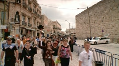 Entrance of the Old City of Jerusalem Stock Footage