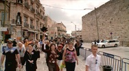 Stock Video Footage of Entrance of the Old City of Jerusalem