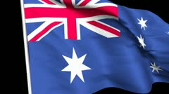 Stock Video Footage of Australian Flag Transition HD