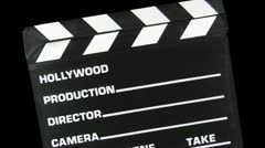 Clapboard Transition HD Stock Footage