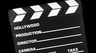 Stock Video Footage of Clapboard Transition HD