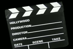 Clapboard Transition Stock Footage