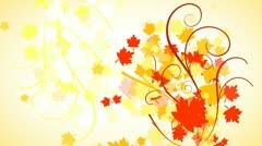Autumn Leaves Flourish Background 01 HD - stock footage