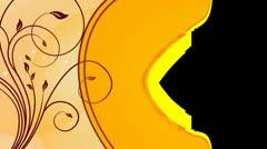 Cinnamon Swirls Flourish Overlay 01 HD Stock Footage