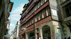 Rue Saint-Georges - Rennes France Stock Footage