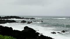 Oahi Hawaii North Shore rainy weather Stock Footage