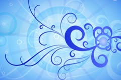 Cool Blue Flourish Background 01 Stock Footage
