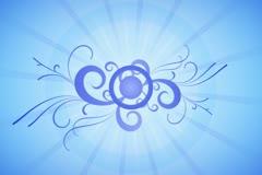 Cool Blue Flourish Wipe Stock Footage
