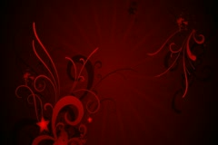 Red Evolution Flourish Background 01 Widescreen Stock Footage