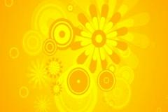 Retro Summer Flourish Background 01 Widescreen Stock Footage