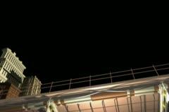 Blue Sky City Lowerthird - stock footage