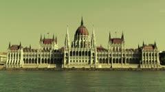 Hungarian Parliament Budapest Hungary 21 stylized Stock Footage