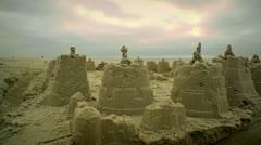 Sand Castles Stock Footage