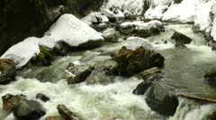 Creek german alps meltwater Stock Footage