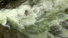 Creek slow motion top view Stock Footage