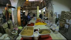 The Galilee Mill El-Babour in Old City Nazareth Israel Stock Footage