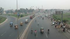 Highway in Lahore Stock Footage
