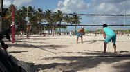 Stock Video Footage of People Playing Volleyball