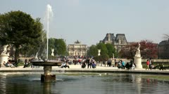 In  Jardain des Tuileries Stock Footage