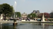 In  Jardain des Tuileries Stock Footage