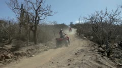 Off road all terrain vehicle ATV Stock Footage