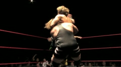Professional Wrestling Move - Back Suplex HD Stock Footage