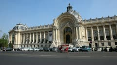 In front of Grand Palais Stock Footage